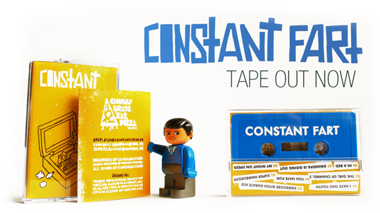 CONSTANT FART DEMO TAPE 2012 OUT NOW PUNK LILLE